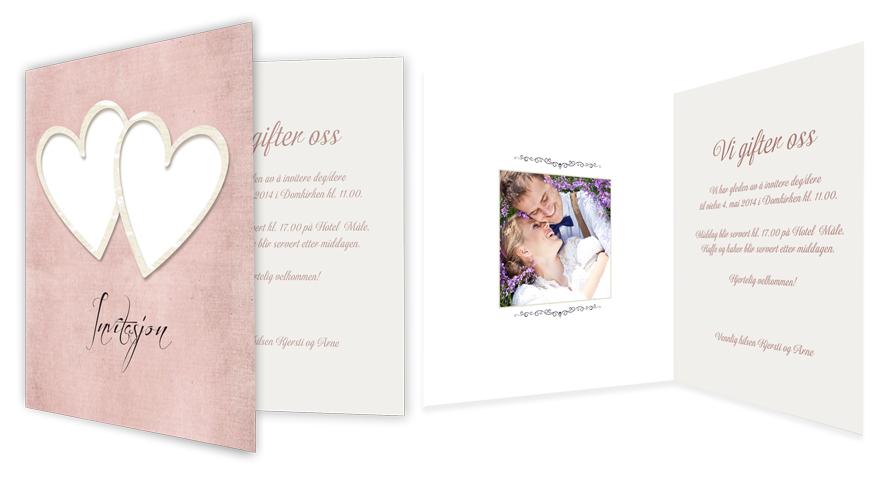 lag personlige invitasjoner til bryllupet fotoknudsen